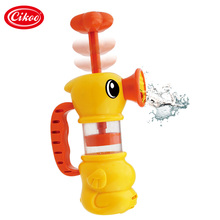 most popular water pumping baby bath toys for kids bathtub accessory pool toys yellow duck