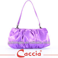 ladies purple satin make up bag cosmetic bag
