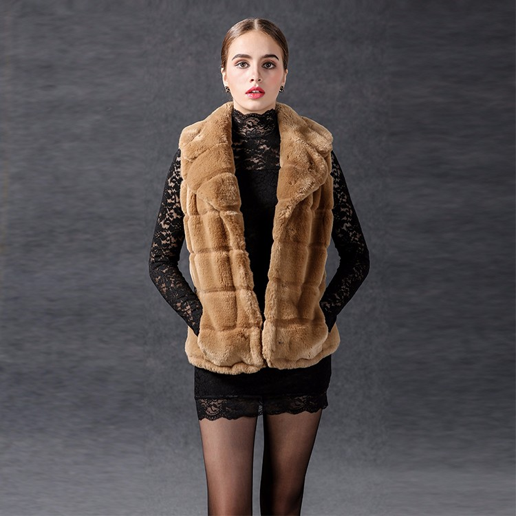 Noble and Beautiful Fashion Favorite Faux Fur Women Winter Jacket Coat