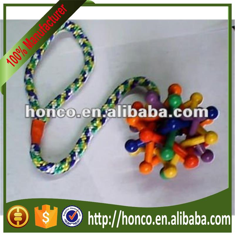 Soft rubber Colorful rainbow bouncing bell balls