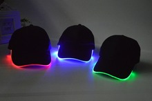 Wholesale led hats, sound activated flashing hats,hat and cap