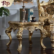 china foshan city wholesale antique wooden round luxury side table