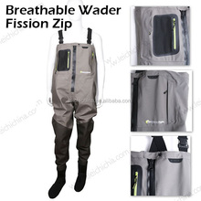 100% waterproof breathable fabric fly fishing wader