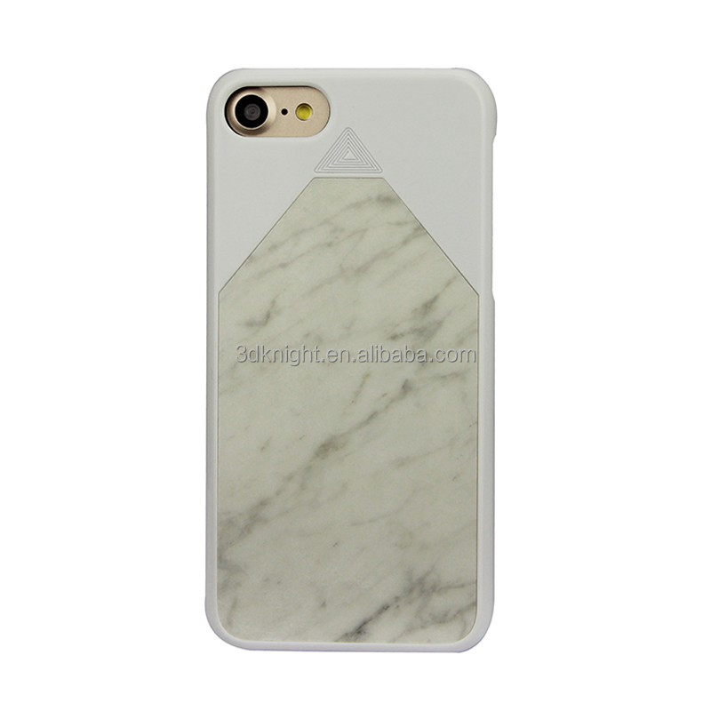 2016 New arrival hard phone case for iPhone 7 case marble white cover