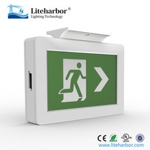 ABS Acrylic Running Man Rechargeable Emergency LED Sign Light Emergency Lamp Exit Sign Lamp with ETL listed