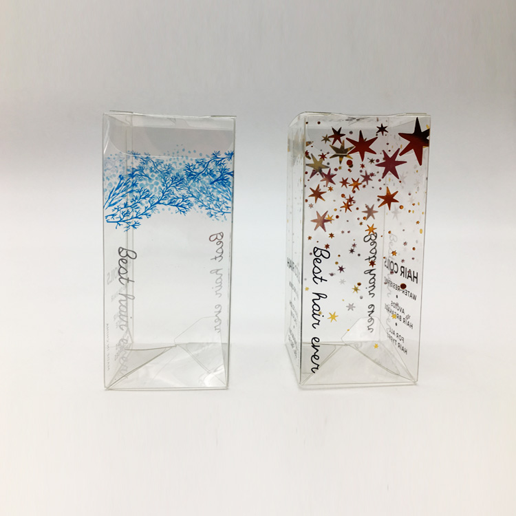 custom transparent folding box clear pvc pet plastic gift packaging box