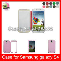 Auto Wake Sleep Function High Quality PU Leather Phone Case For Samsung Galaxy S4 I9500,Pink