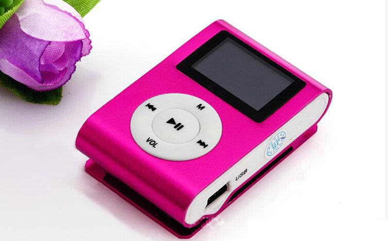 Mini Clip Mp3 <strong>Player</strong> With LCD Screen & FM Radio Earphones Retail Box Support Micro S D Card Free DHL Shipping