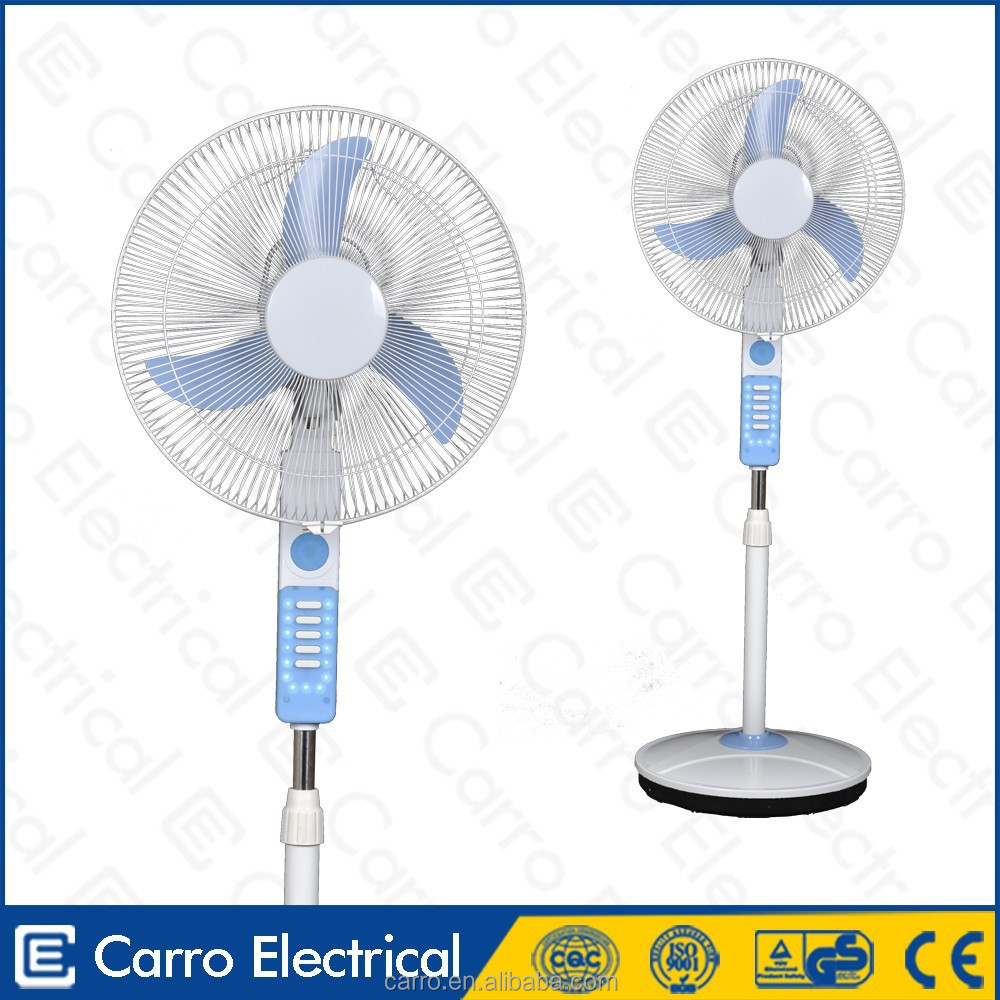 Nigeria and Egypt market 12v solar rechargeable luminous fan 12v bladeless stand fan