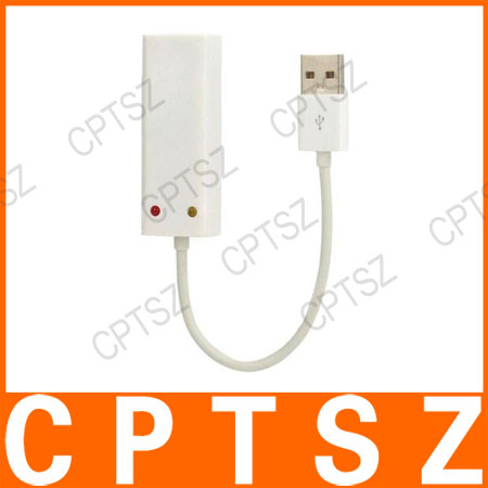 USB to 10/100Mbps RJ45 LAN Ethernet Network Adapter - White