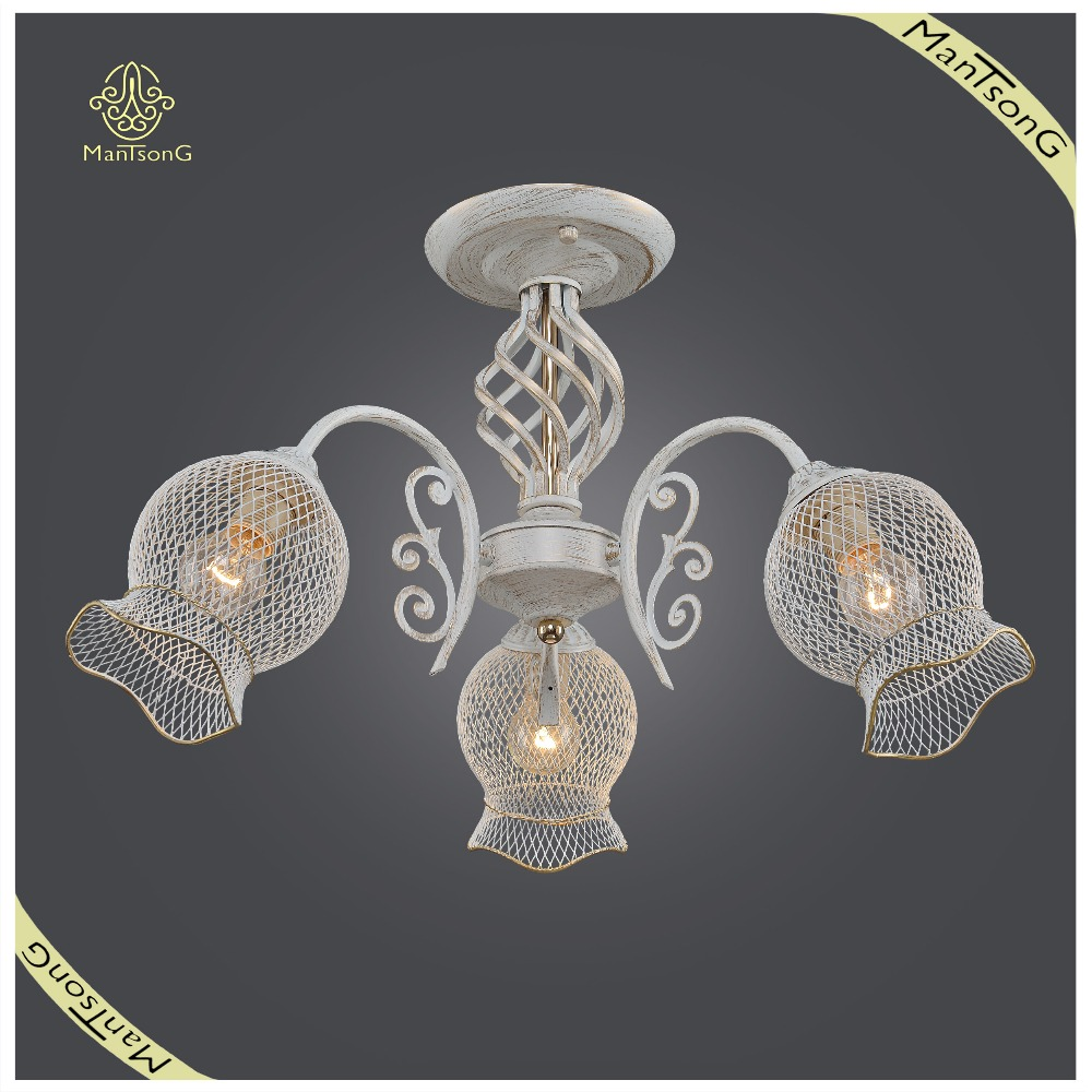 Interior Decorative Iron Shade Ceiling Lamp E14 Light Source, New Design Ceiling Lamp