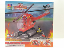 FIRE FIGHTING SERIES ,plane ,aricraft ,helicopter DIY BLOCKS TOY