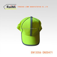 Hi-Vis Safety Baseball Cap With Reflective Tape