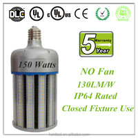No Fan High power 80w 100w 120w 150W LED Corn Lamp E40 E39 UL/DLC listed