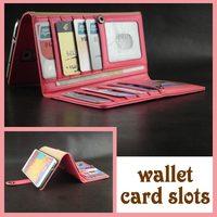 European style 2014 PU leather magnet wallet phone case for Samsung Galaxy Note 4 with card slots holder wallet phone case