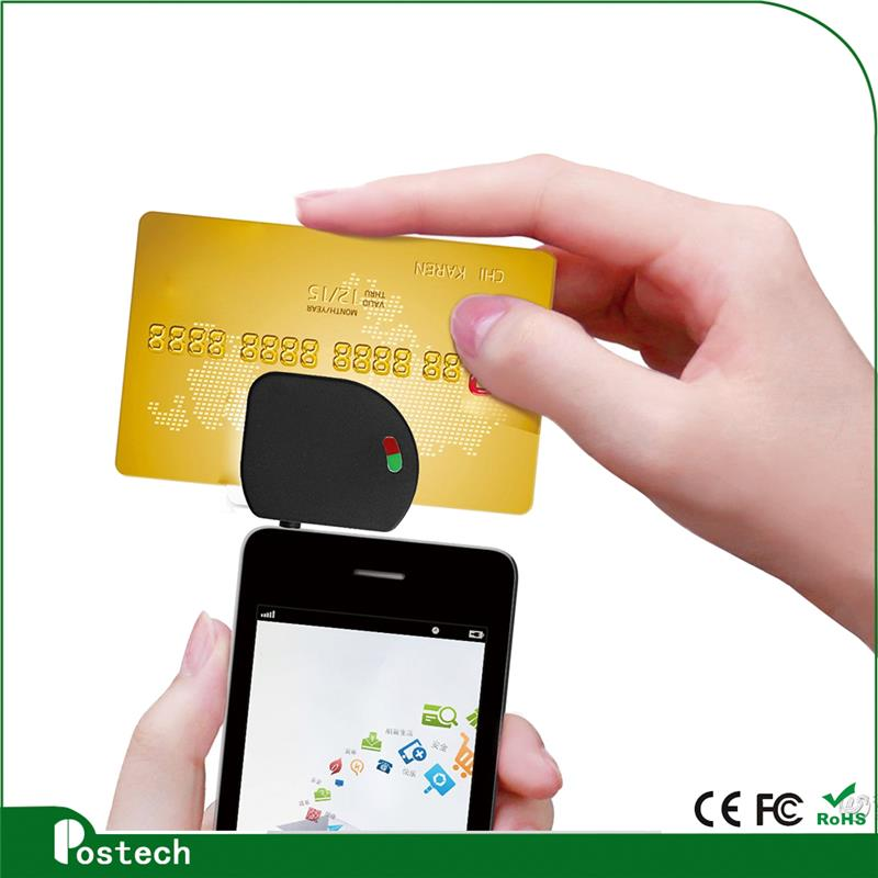 MCR02 Hot selling portable mini smart chip card reader use for mobile phone ipad pc with low price