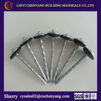 rubber washer roofing nails with twisted shank