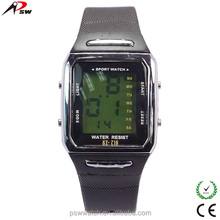 silicone material digital watch sports type led display smart watch