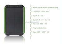 high quality batteries explosive power wireless 10000mah solar mobile power supply