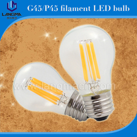 Round shape 2200-6500k cct with led driver dimmable g45 led filament bulb