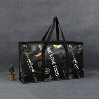 Insulation non-woven fabric fashion cooler lunch bag, Oxford insulation factory wholesale