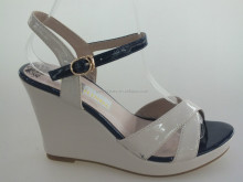 Wedge heel women leather shoes white color newly design