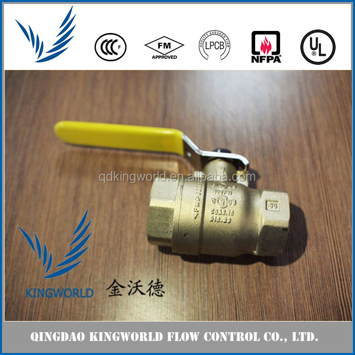 Ductile Iron brass ball valve 2 inch FM UL price list