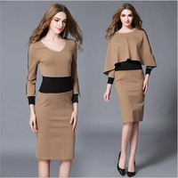 zm22161a European and American style women elegant casual dresses new fashion ladies clothes