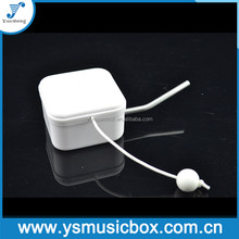 White plastic Yunsheng pull string musical movement music box for baby toy