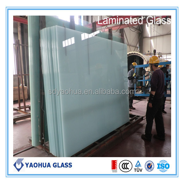 greenhouse/bathroom door/furniture glass clear laminated glass