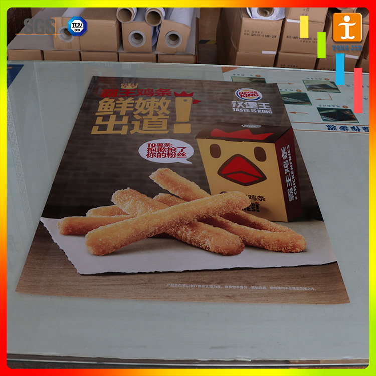 Wholesale printing poster ads for food stores shop