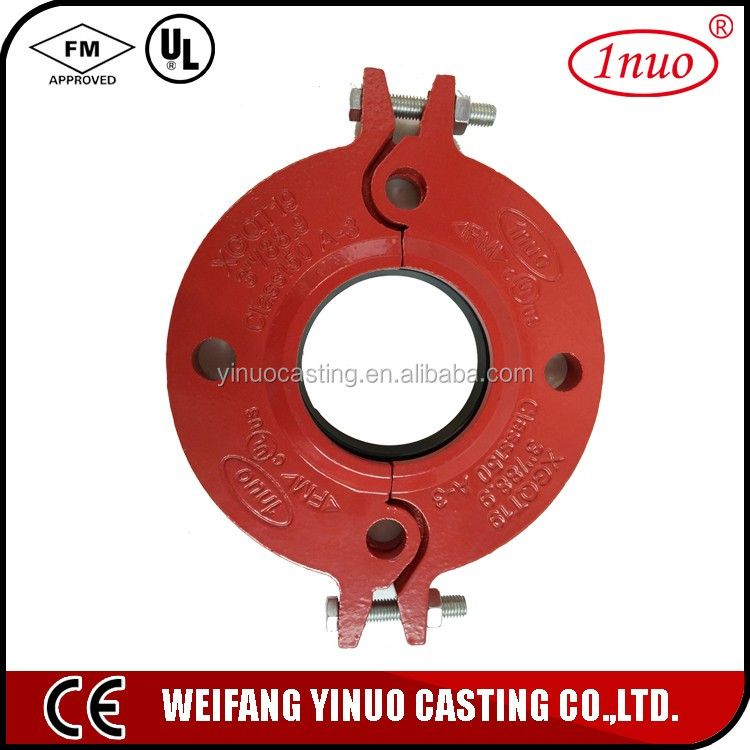 Grooved coupling Pipe Fitting flange rubber coupling
