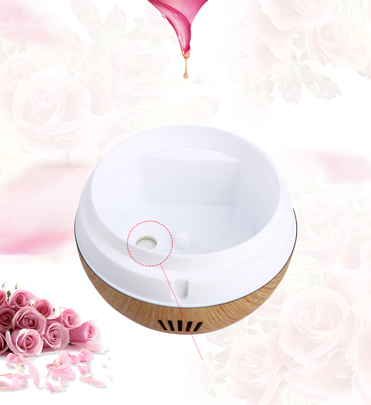 Led light aroma diffuser black electric home fragrance diffuser