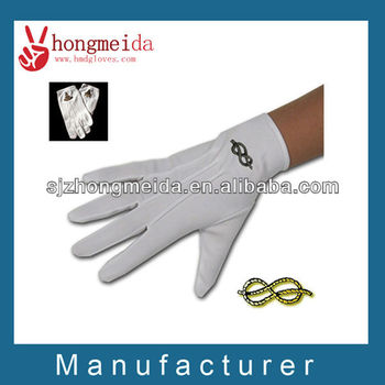 marching band gloves/white cotton glove/white parade glove/waiter glove