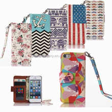 Leather Wallet Card Case Flip Stand Cover For Apple iPhone Samsung Galaxy For iPhone 4/4S/5/5S/6/6Plus & Samsung Galaxy S3/4/5