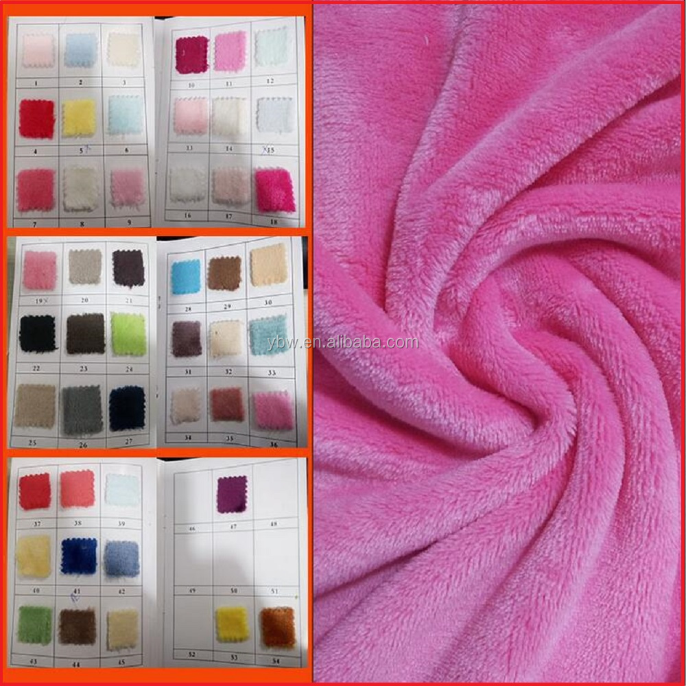 Super Soft Cozy Plush Solid Flannel Fabric Alibaba Supplier of China