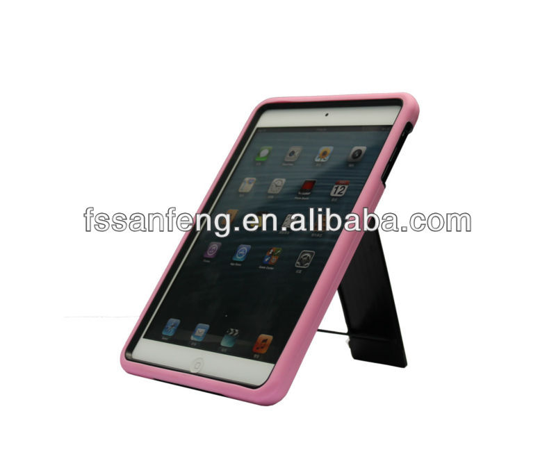 Newest Baby Pink Soft Gel Case for mini iPad,for iPad mini Silicon Gel Case,Kickstand Case for mini iPad