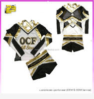 latest fashion cheerleader sex school girl costume custom rhinestones cheerleading uniforms design