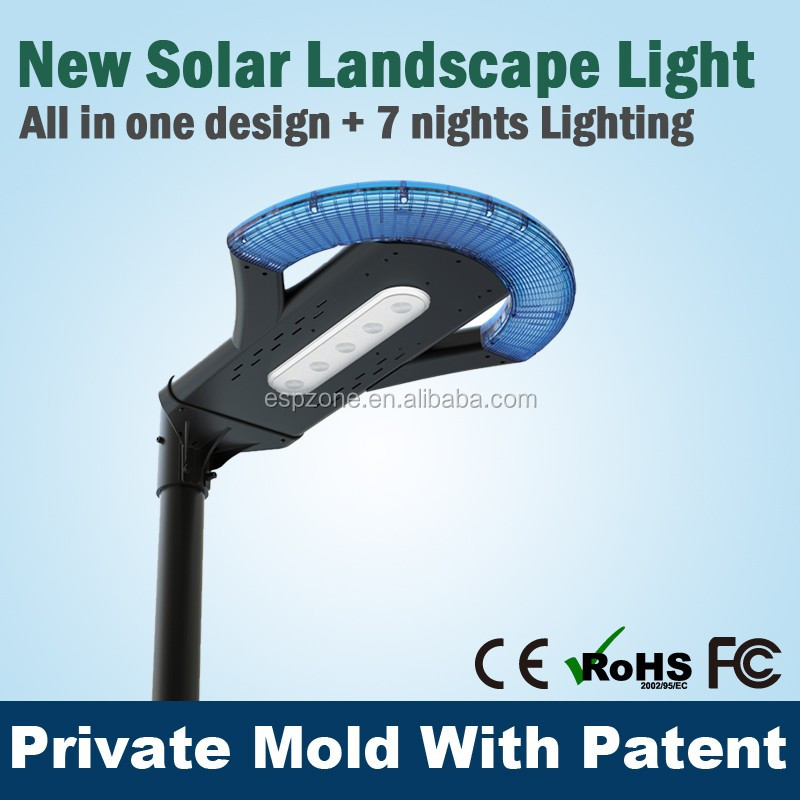 Intergrate All In One Led Solar Garden Light For Courtyard And Industrial