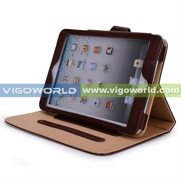 PU Leather Stand Book Shell Protection Case Cover for Apple New iPad Mini