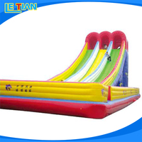 Fashional design cheap inflatable water slides