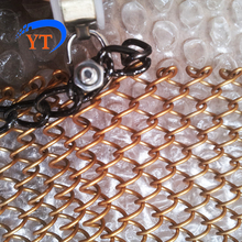 Aluminum Alloy Coil Chain Link Metal Wire Mesh Drapery Curtain