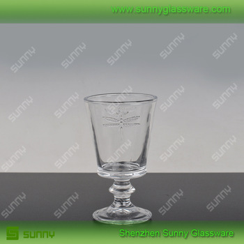 Clear colored glass stemware vodka shot glasses wholesale