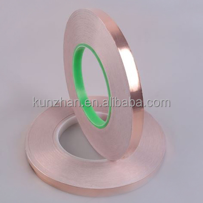 Electrically conductive copper foil tape for barrier of slug and snail