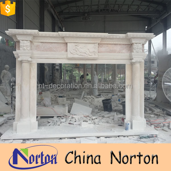 Factory design modern marble fireplace surround for sale NTMF-F028Y