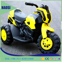 Mini motorcycle toy newest design baby plastic electric motorcycle new cool baby toy three wheels car