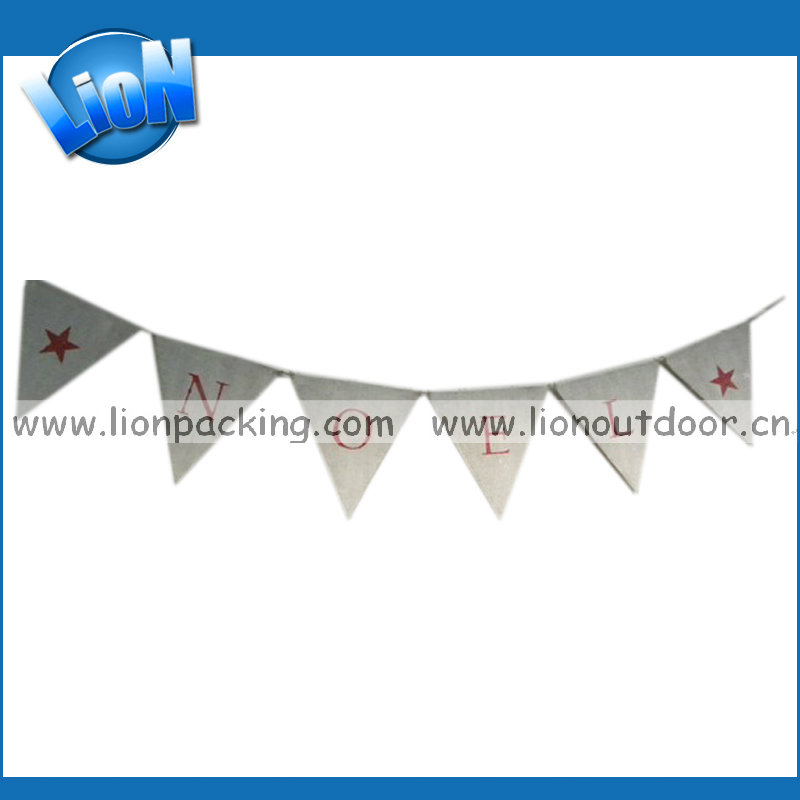 Hot selling cheap burlap celebration, party banner