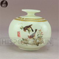 tea coffee sugar storag candy jar puer tea green tea salt candy on-glazed airtight cheap storage The design of birds and flowers