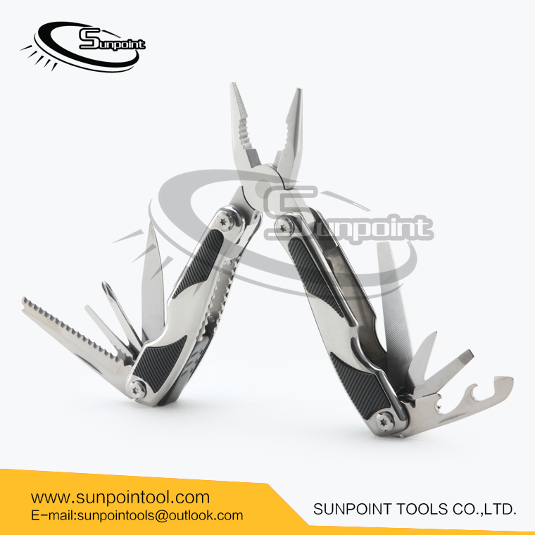 High quality modern style multi tool pliers Mirrored polished stainless steel multi tool pliers Functional camping tools