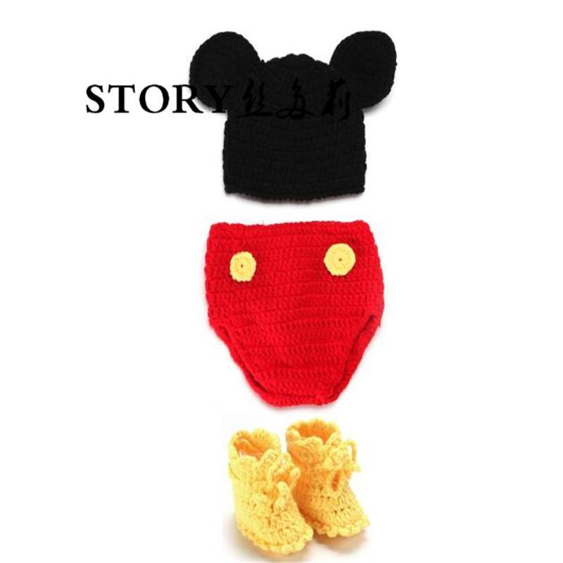 Recién Nacido bebé niños partido hecho a mano pequeño ratón mono ...